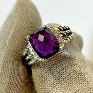 David Yurman Amethyst Ring! 7.5